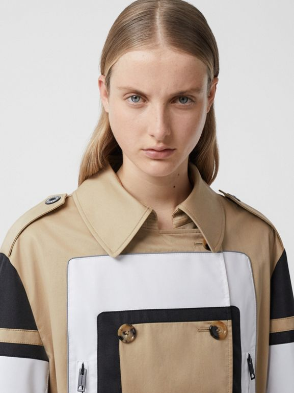 Cotton Gabardine Reconstructed Trench Coat in Soft Fawn - Women | Burberry Australia - cell image 1