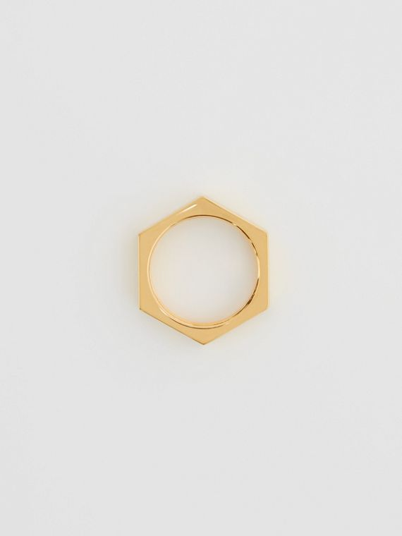 Gold-plated Nut Ring in Light