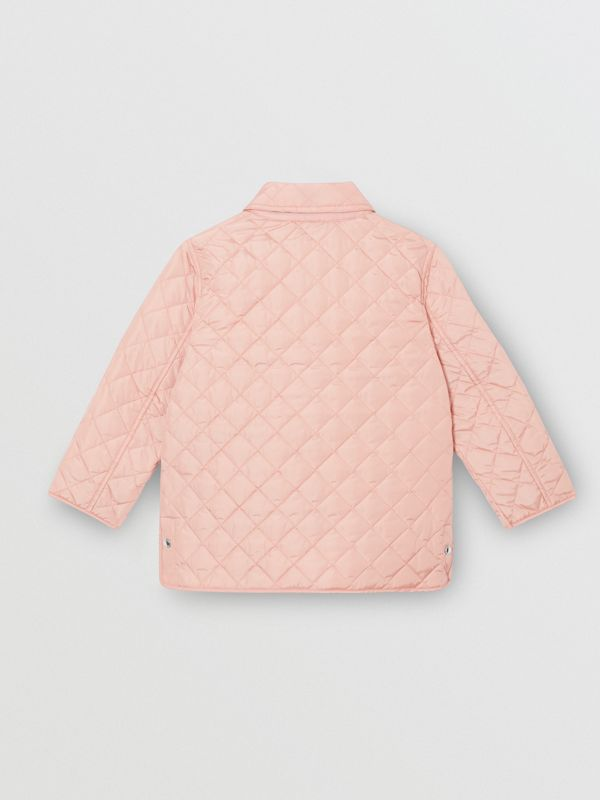 Lightweight Diamond Quilted Jacket in Dusty Pink | Burberry - cell image 3