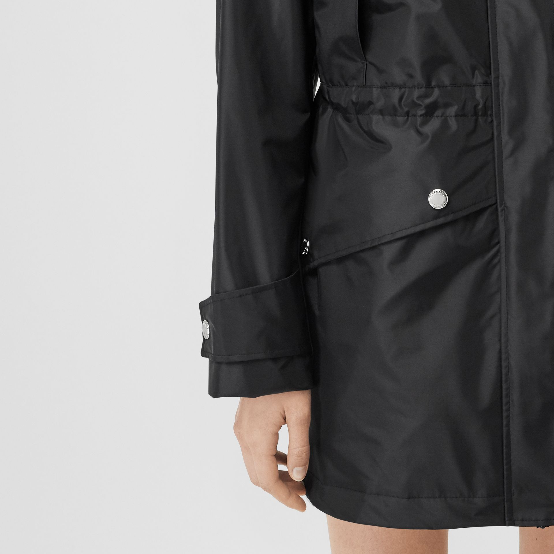 Coated Nylon Hooded Parka with Detachable Gilet in Black - Women | Burberry United States - gallery image 4