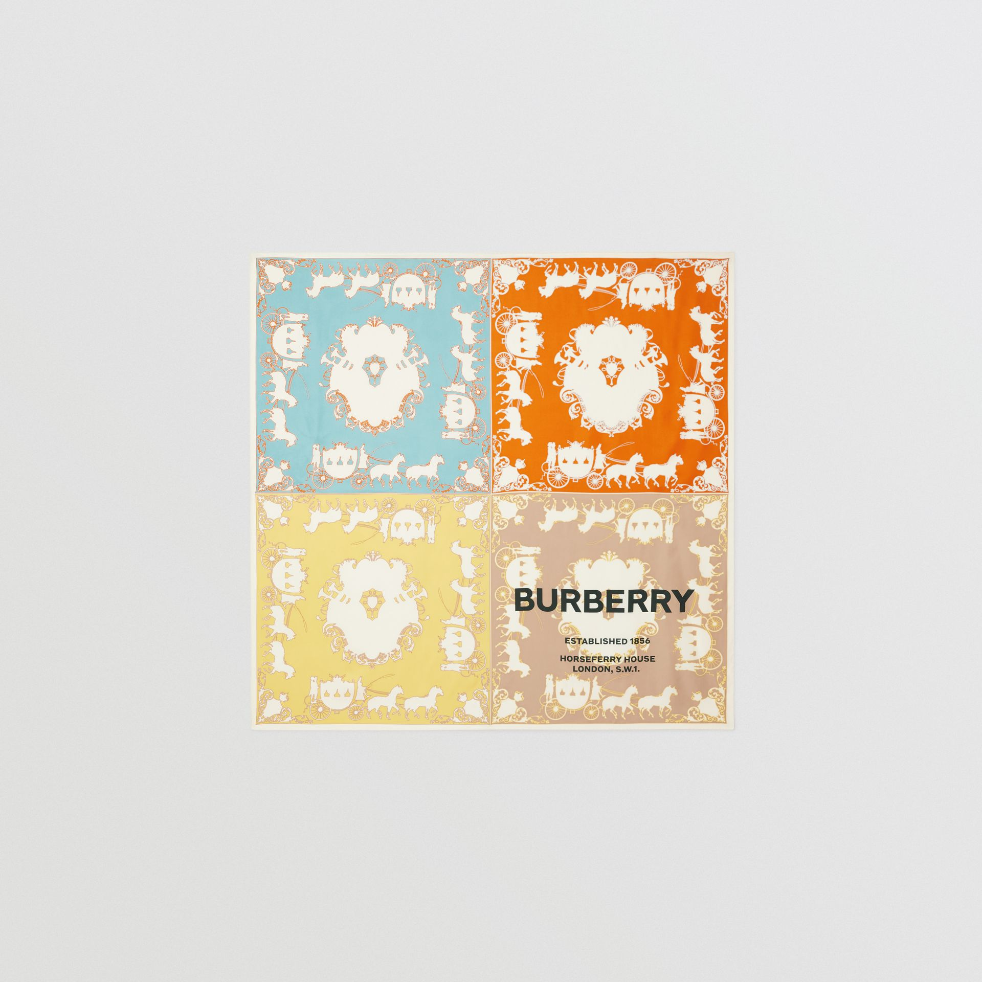 Archive Scarf Print Silk Large Square Scarf in Multicolour | Burberry Australia - gallery image 0