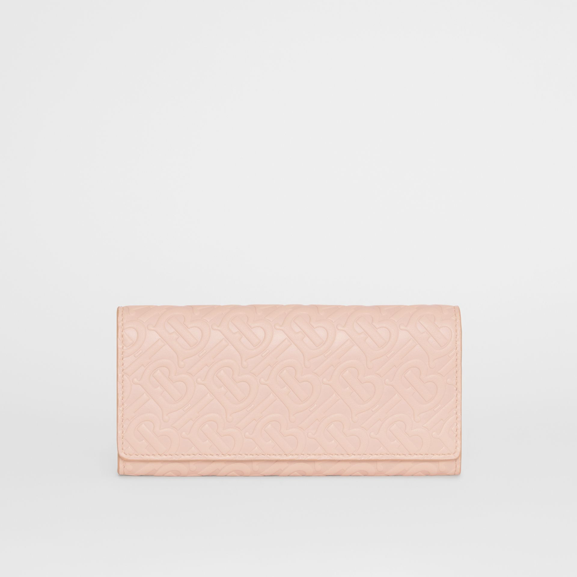 Monogram Leather Continental Wallet in Rose Beige - Women | Burberry Canada - gallery image 0