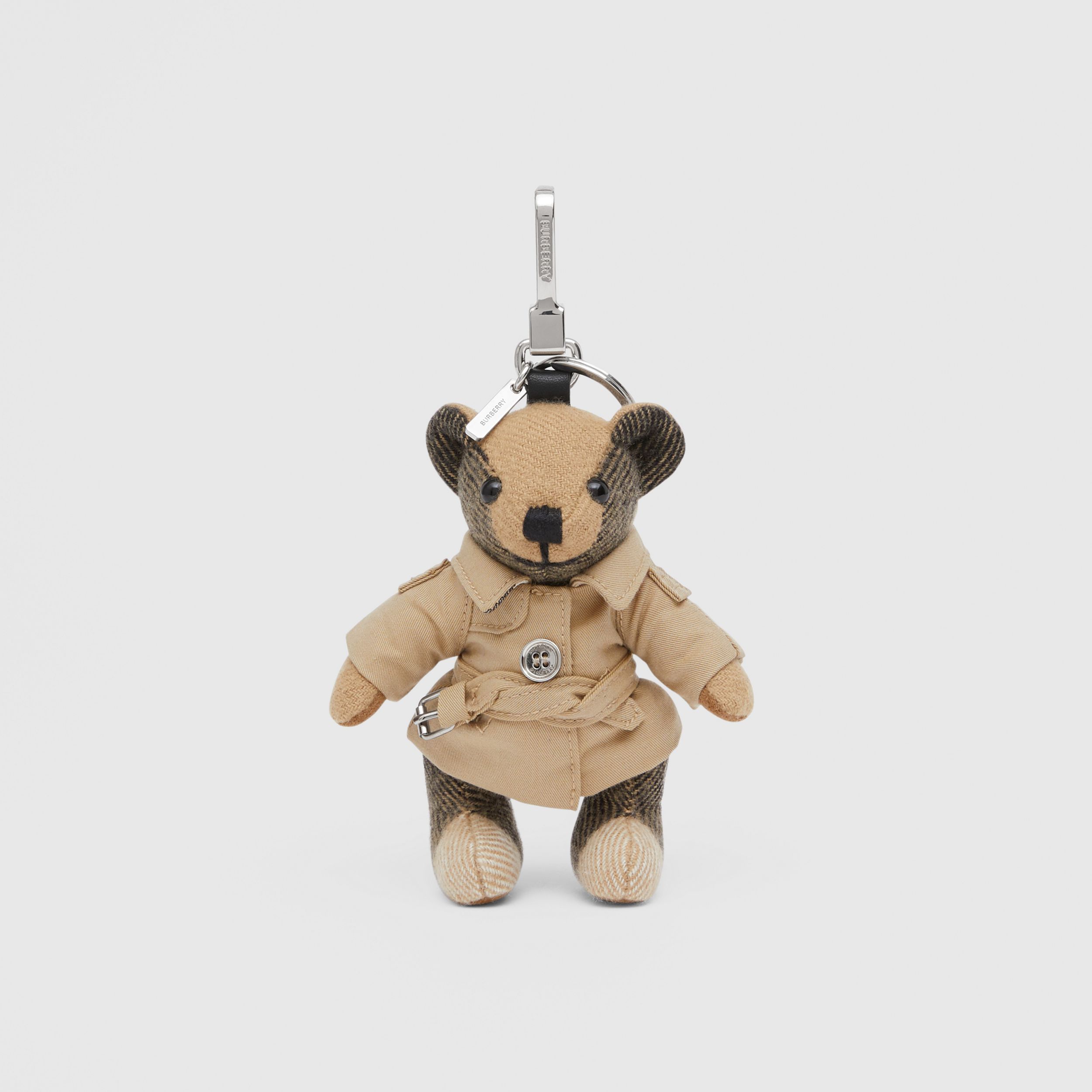 Thomas Bear Charm in Trench Coat in Archive Beige - Women | Burberry - 1