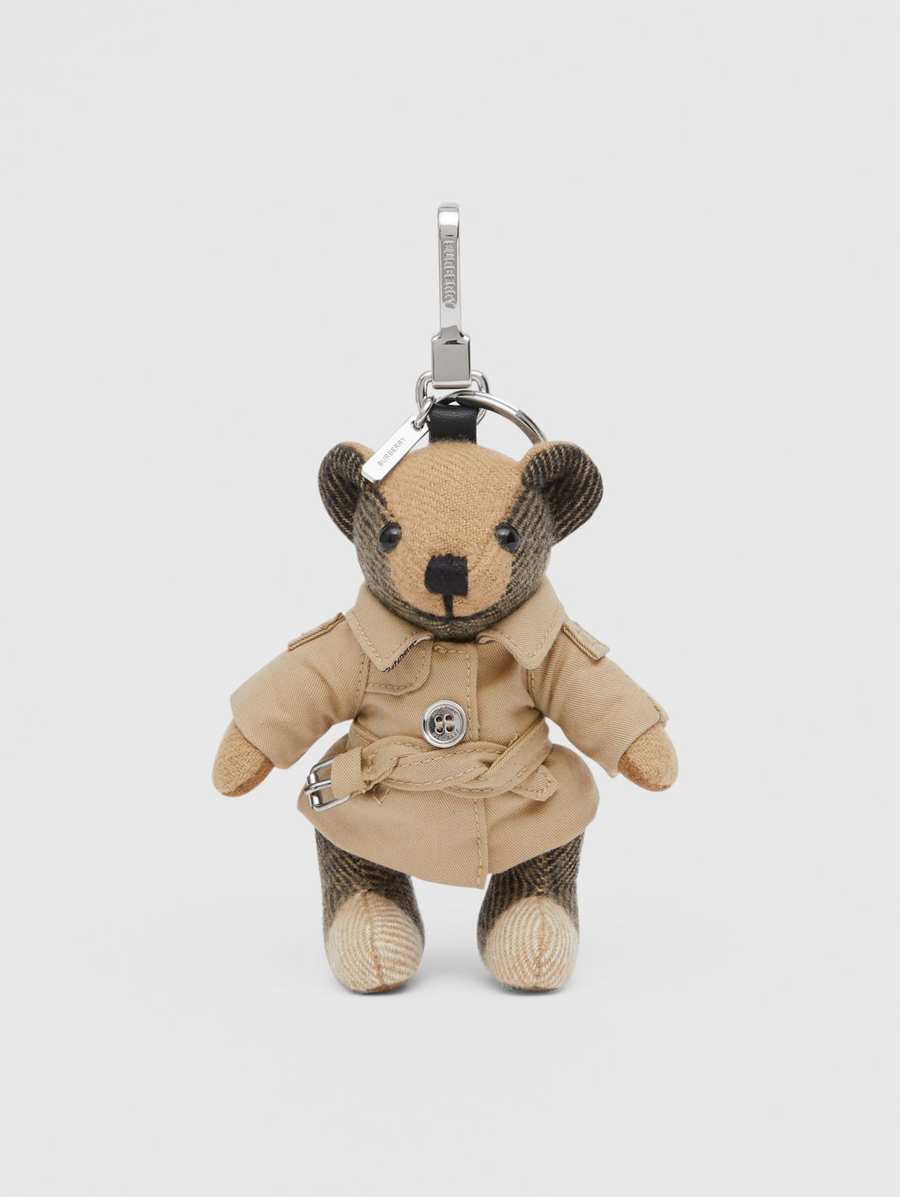 Bijou porte-clés Thomas Bear avec trench in Beige D'archive