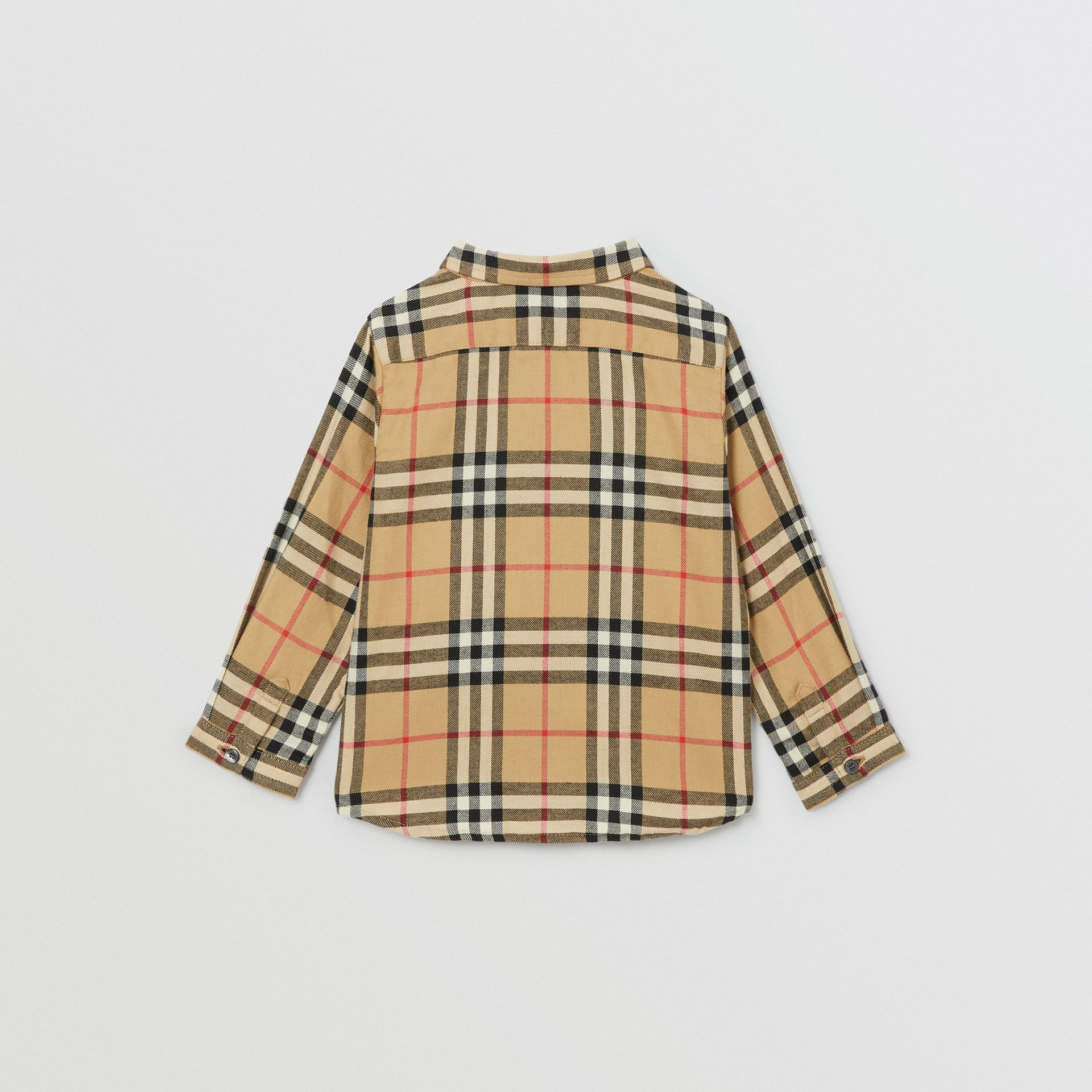 Vintage Check Cotton Flannel Shirt in Archive Beige - Children | Burberry - gallery image 3