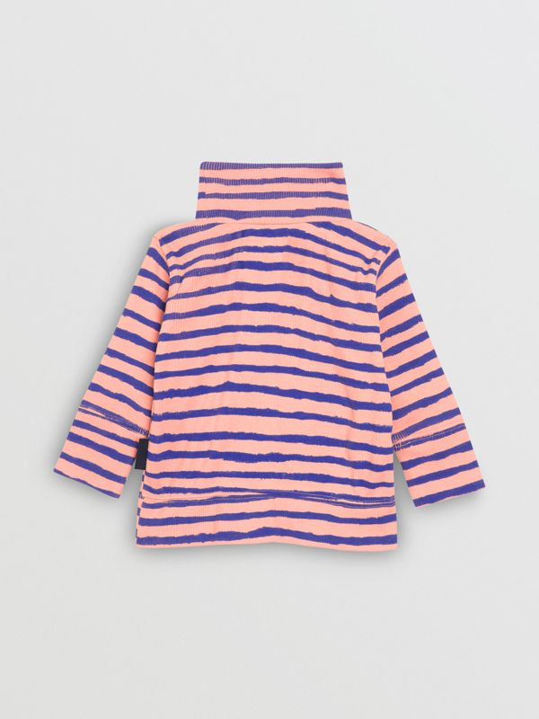 Sweat-shirt rayé en coton côtelé (Rose Cendré) - Enfant | Burberry Canada - cell image 3
