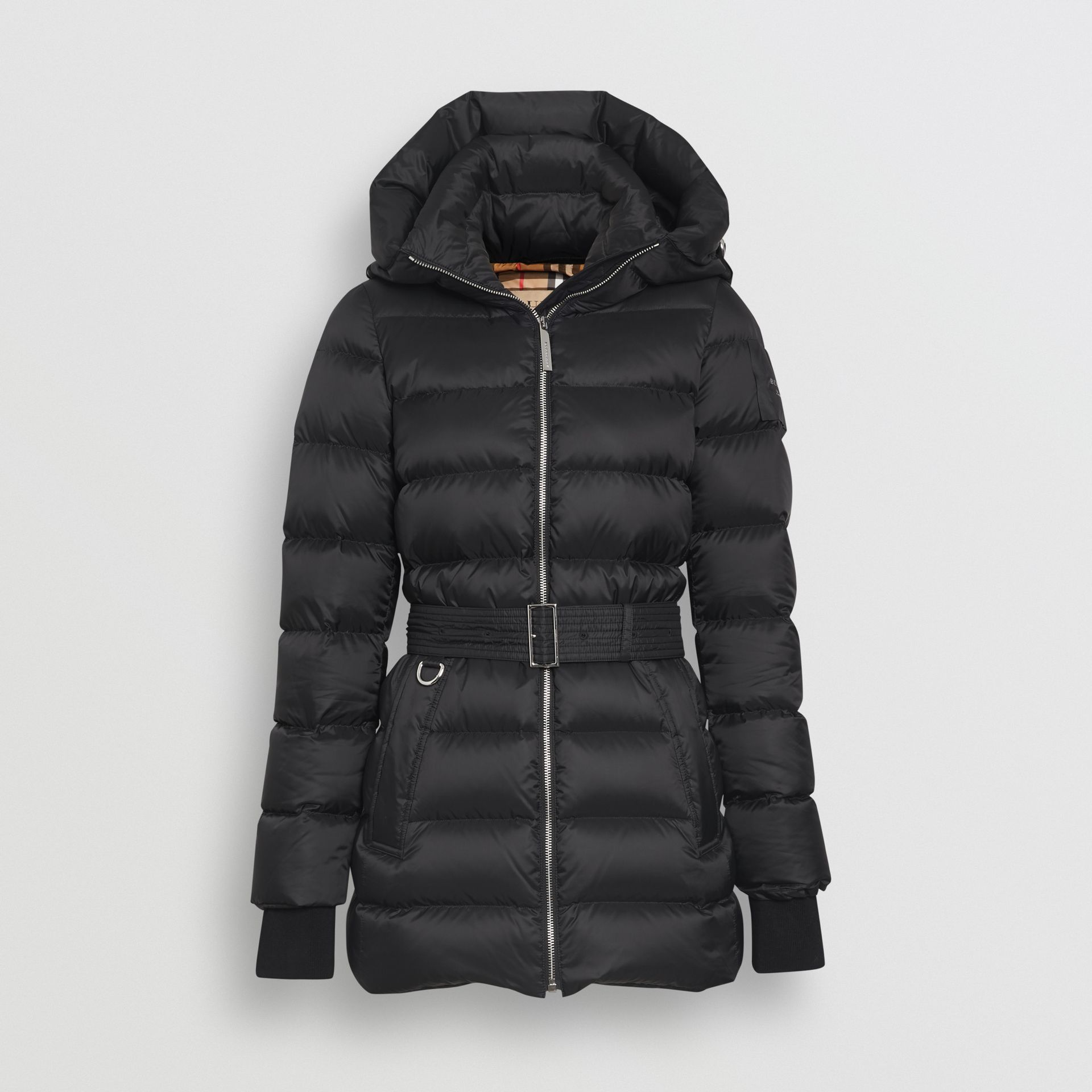 Down-filled Hooded Puffer Coat in Black - Women | Burberry United States - gallery image 3