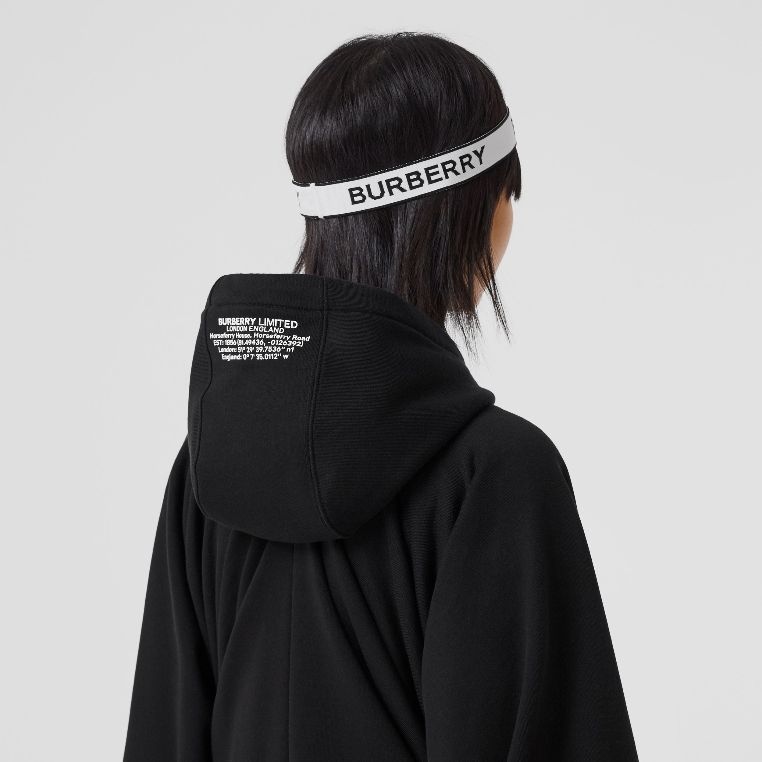 Logo Jacquard Headband in White | Burberry Hong Kong S.A.R. - 3