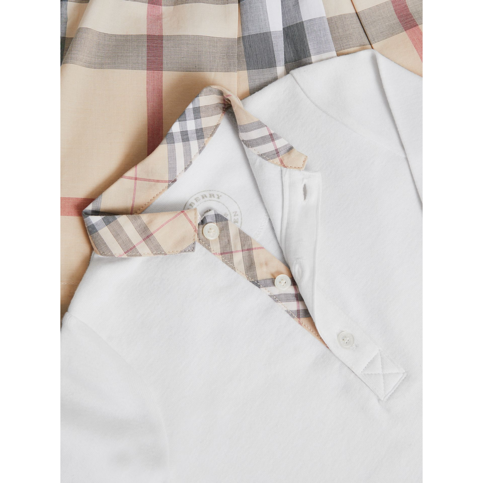 Cotton Six-piece Baby Gift Set in White | Burberry - gallery image 2