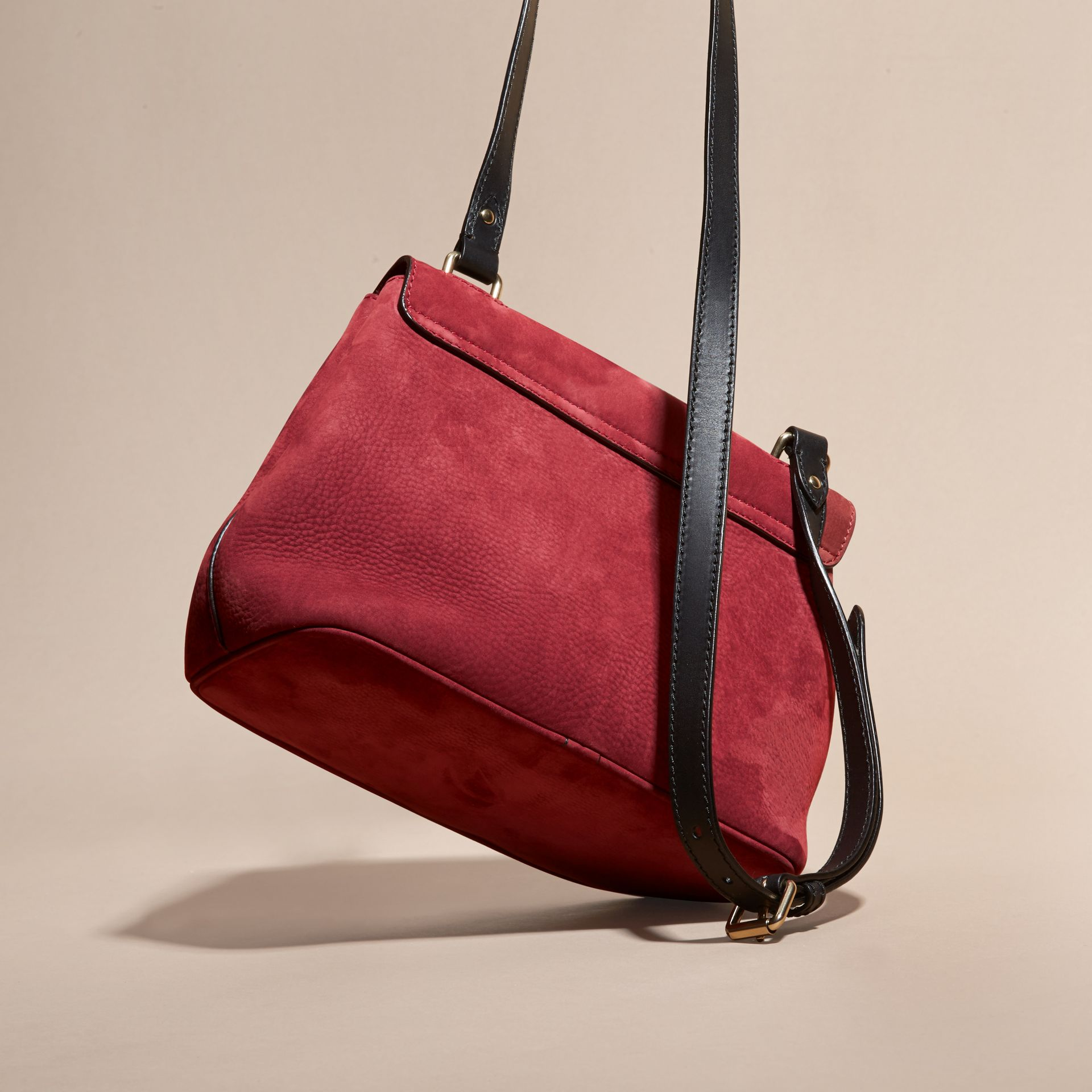 Cherry Grainy Nubuck Crossbody Bag - gallery image 4
