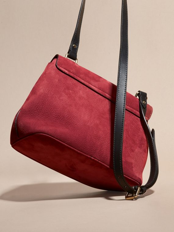 Cherry Grainy Nubuck Crossbody Bag - cell image 3