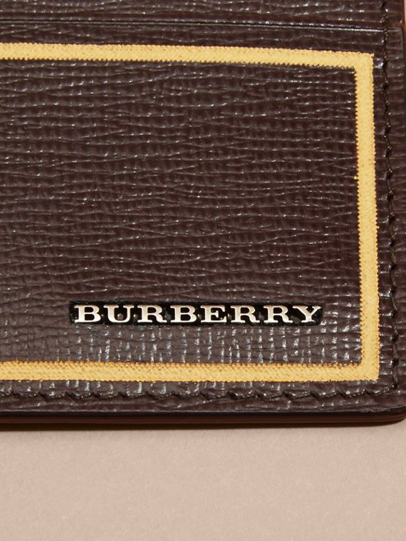 Border Detail London Leather Card Case in Peppercorn - cell image 2