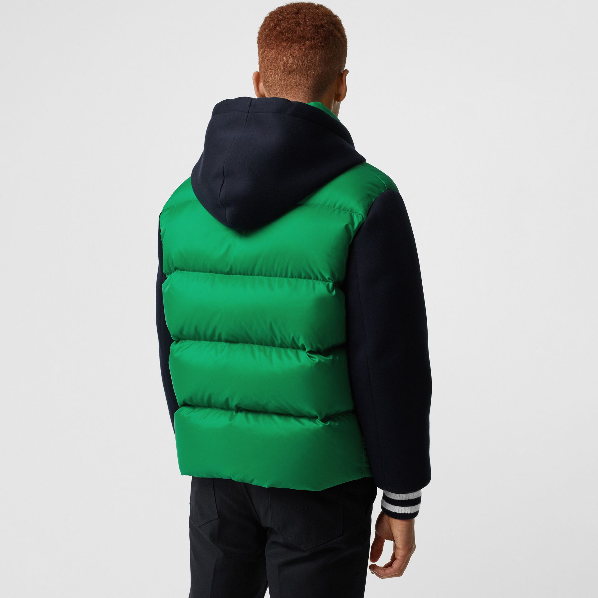 Neoprene Down-filled Hooded Jacket in Vibrant Green - Men | Burberry Canada - gallery image 2