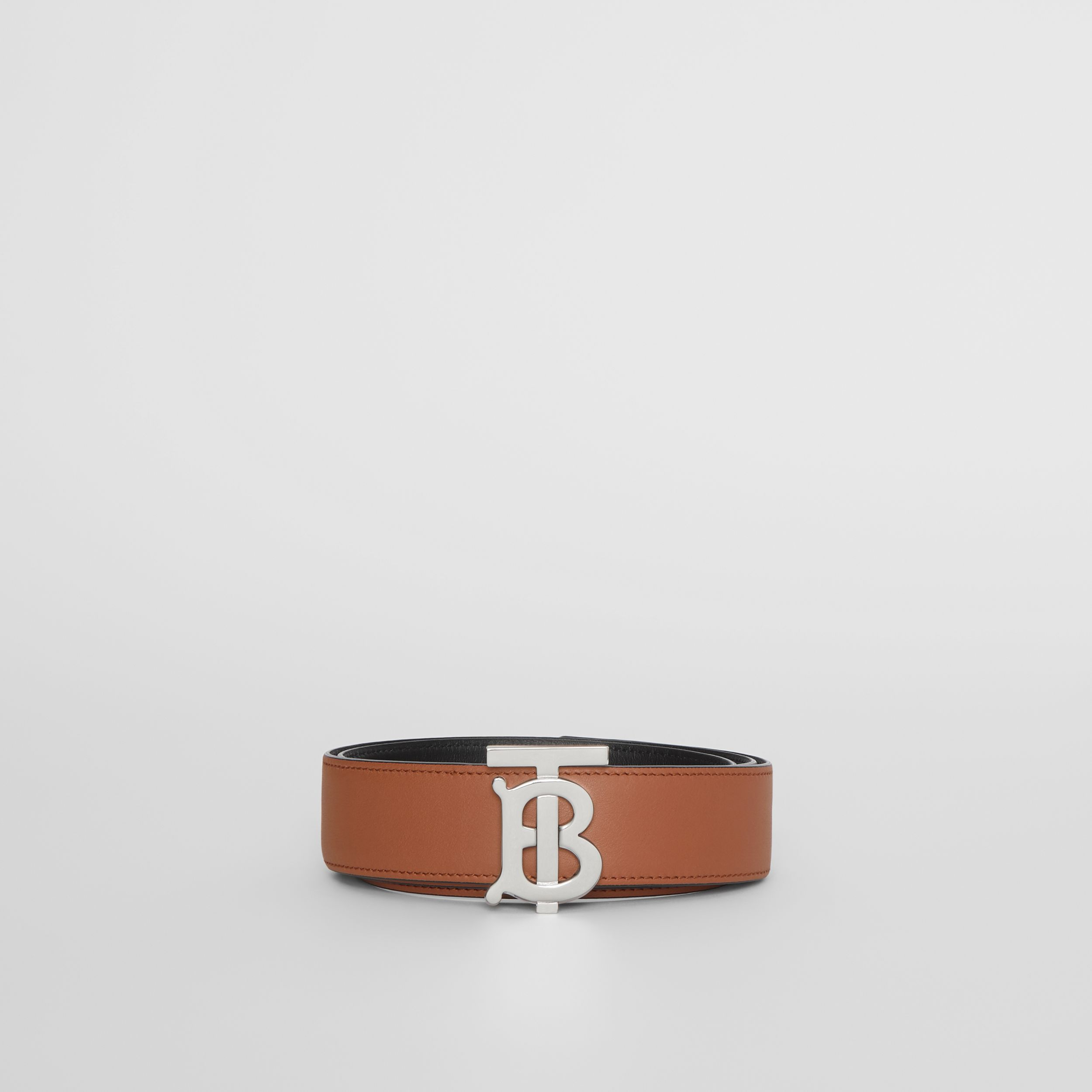 Reversible Monogram Motif Leather Belt in Malt Brown/black - Women | Burberry - 4