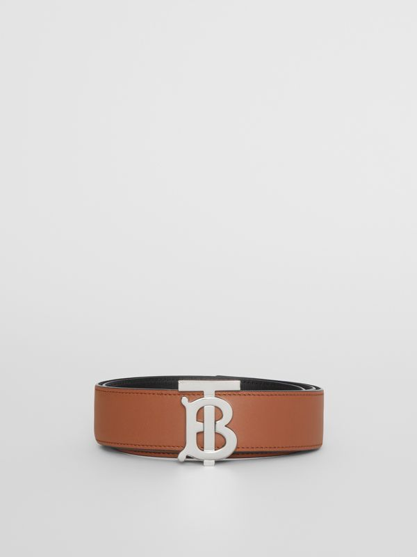Reversible Monogram Motif Leather Belt in Malt Brown/black - Women | Burberry United Kingdom - cell image 3