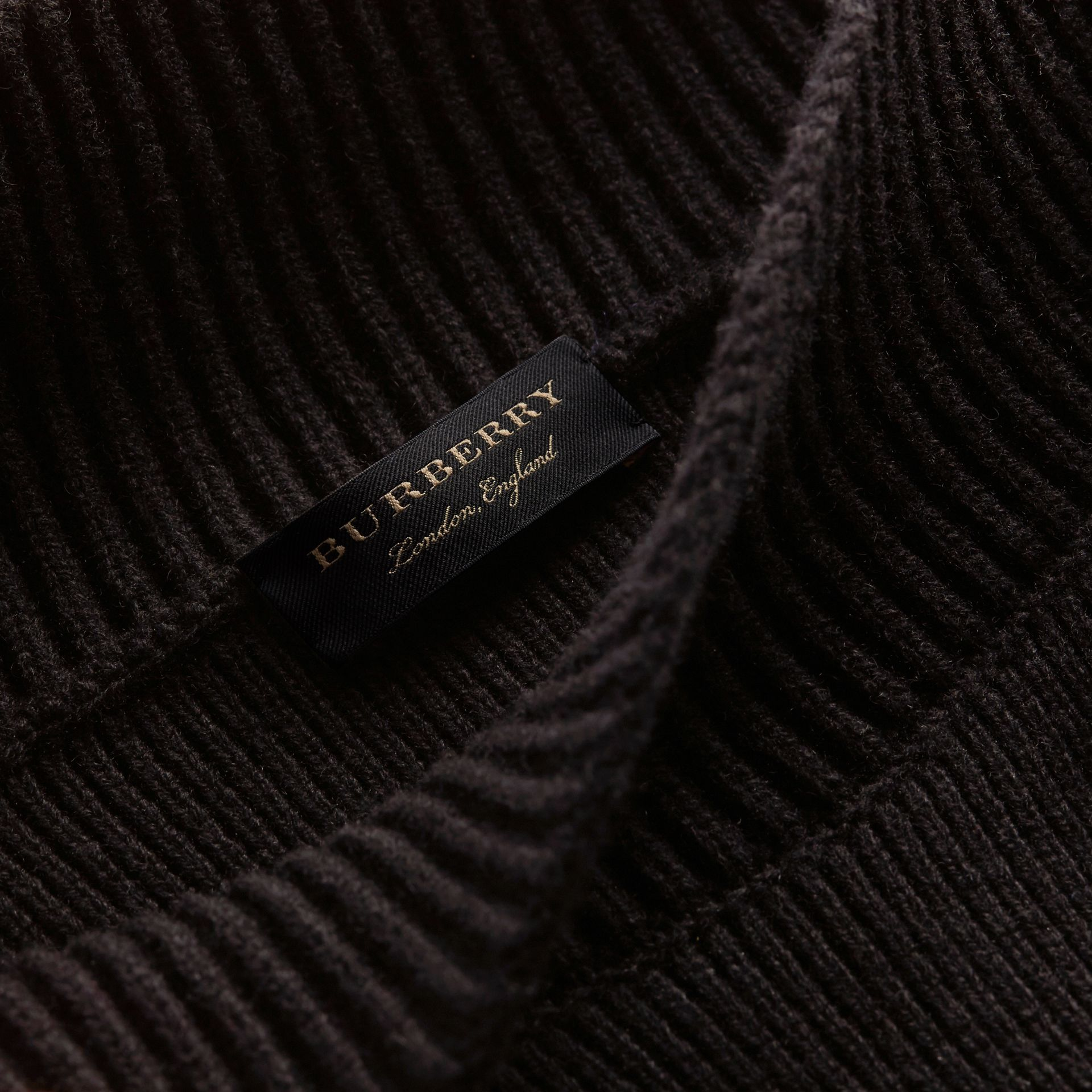 Asymmetric Rib Knit Wool Cashmere Sweater - Women | Burberry Hong Kong - gallery image 2