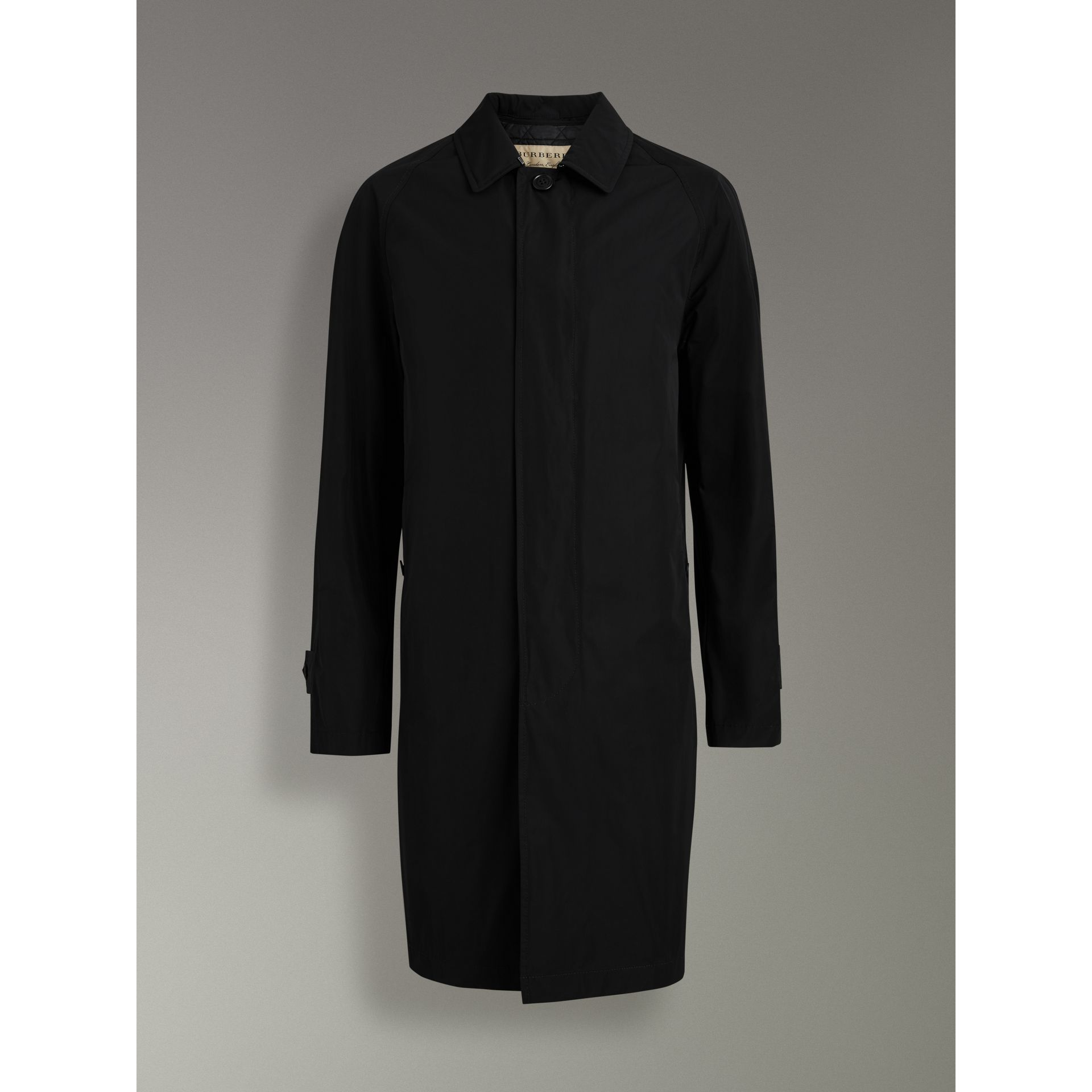 Shape-memory Taffeta Car Coat in Black - Men | Burberry Australia - gallery image 3