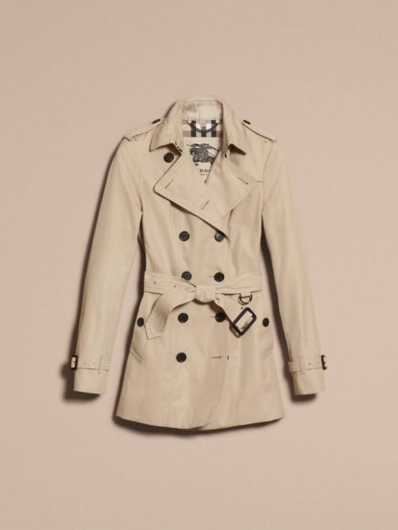 Stone The Sandringham – Short Heritage Trench Coat Stone - cell image 3
