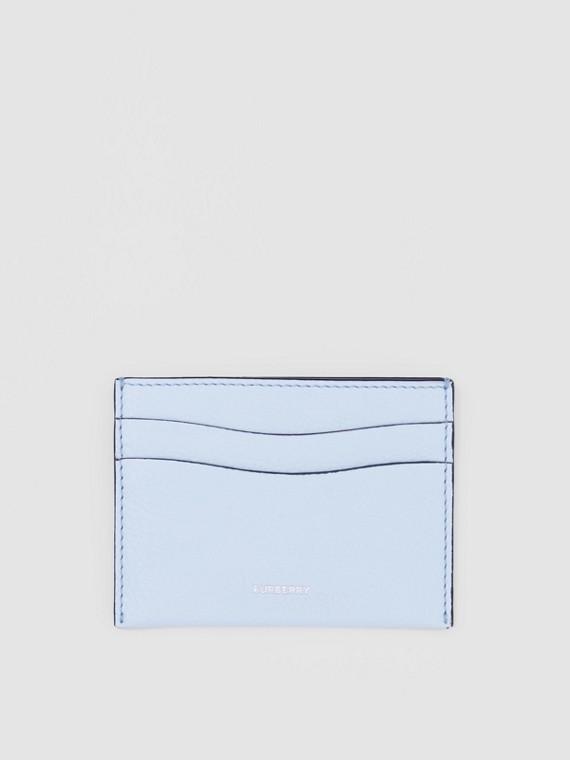Kartenetui aus genarbtem Leder (Hellblau)