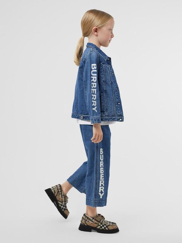 Logo Print Japanese Denim Jeans in Indigo - Girl   Burberry - cell image 2