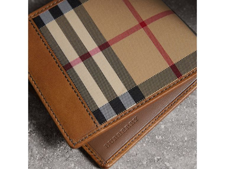 Horseferry Check International Bifold Wallet in Tan - Men | Burberry United States - cell image 1
