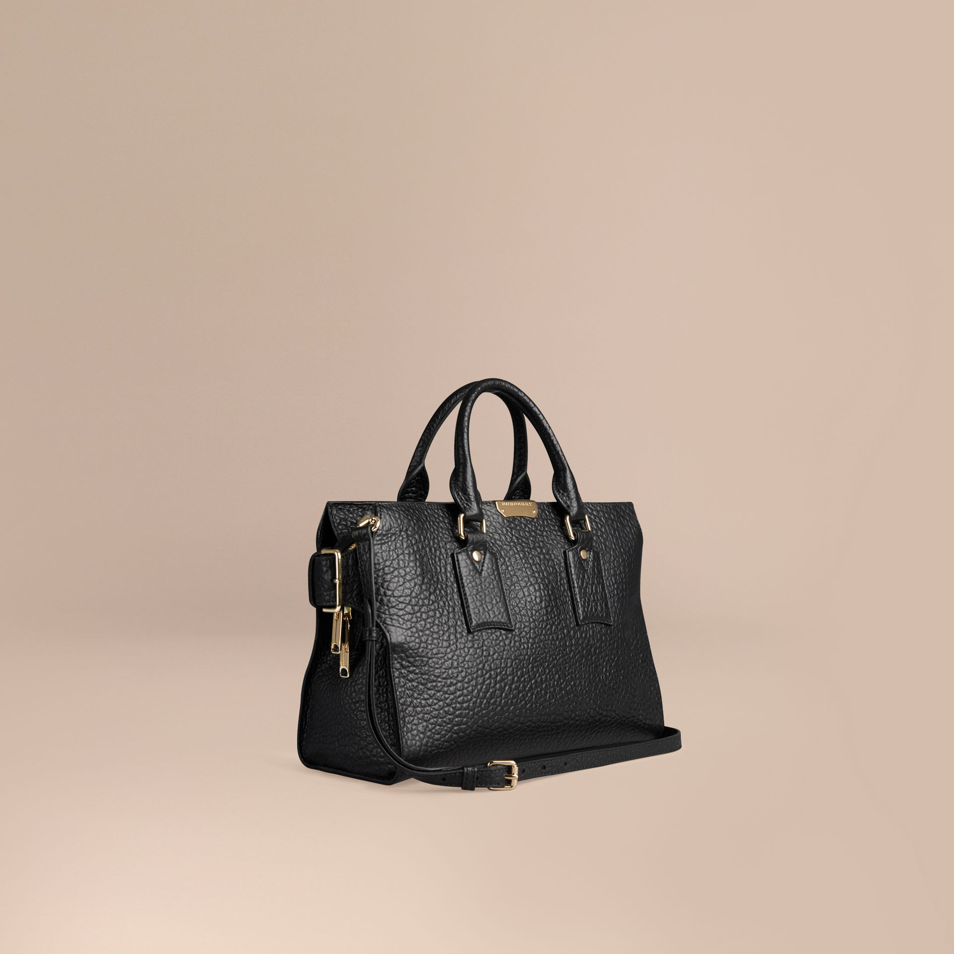 Black The Medium Clifton in Signature Grain Leather Black - gallery image 1