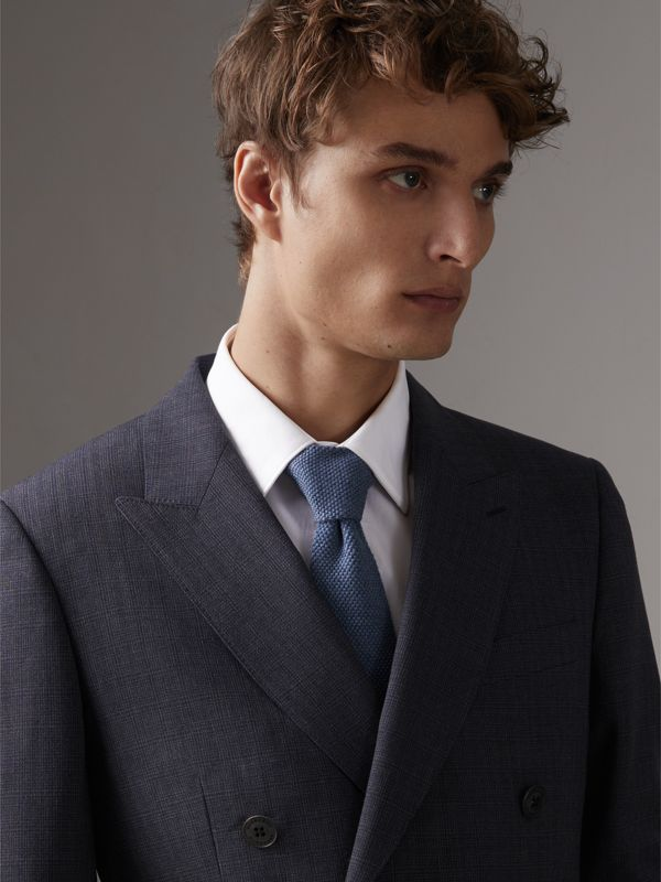 Slim Cut Waffle Knit Wool Tie in Lavender Blue - Men | Burberry - cell image 2
