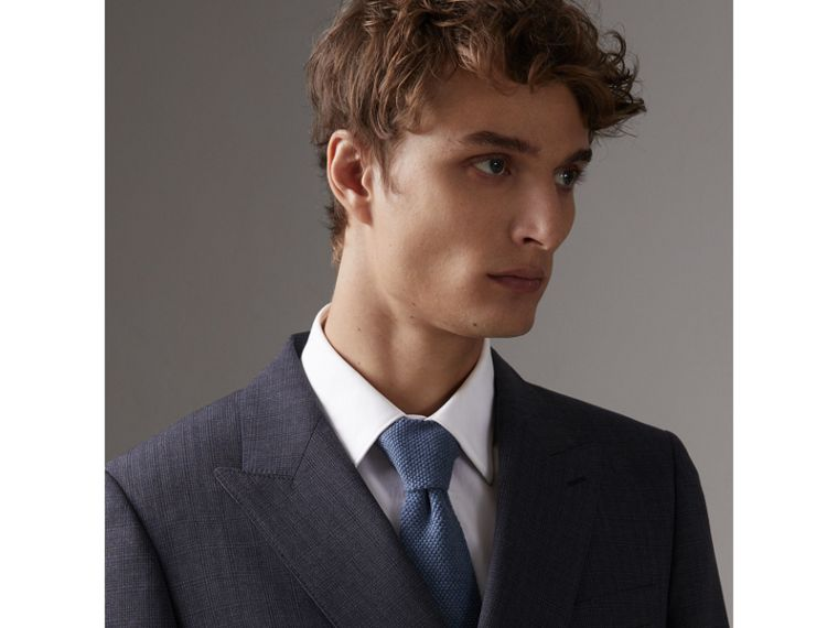 Slim Cut Waffle Knit Wool Tie in Lavender Blue - Men | Burberry Australia - cell image 2