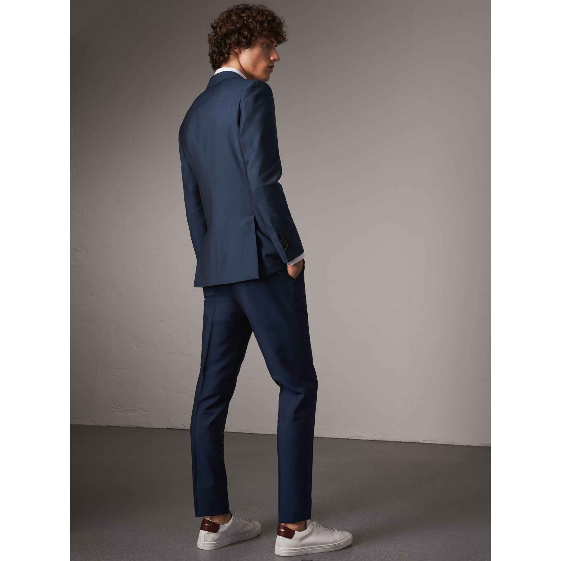 Soho Fit Wool Mohair Suit in Bright Navy - Men | Burberry United States - gallery image 3