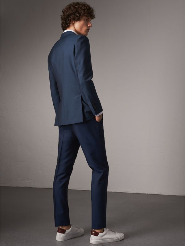 Soho Fit Wool Mohair Suit in Bright Navy - Men | Burberry Australia - cell image 2