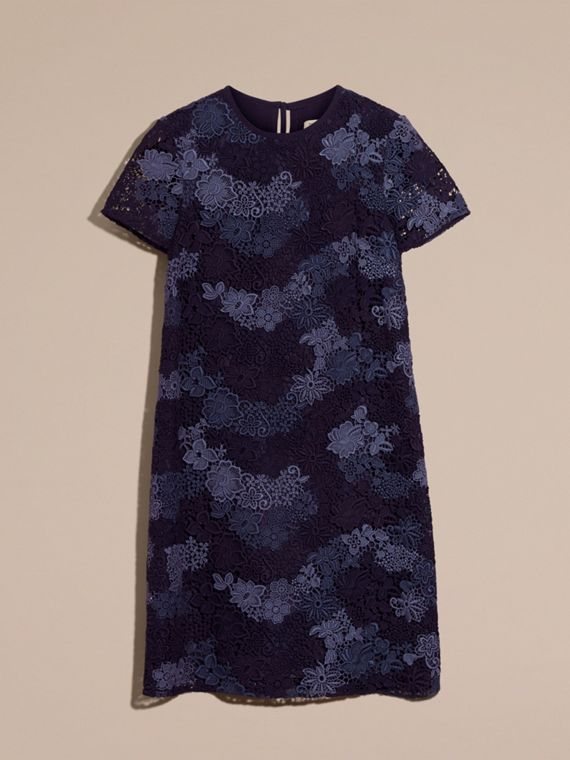 Ink blue Italian-woven Lace T-shirt Dress Ink Blue - cell image 3
