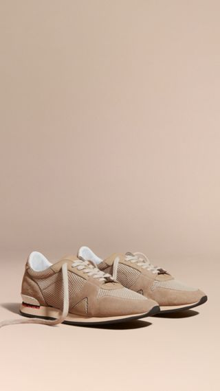 The Field Sneaker in Suede and Mesh