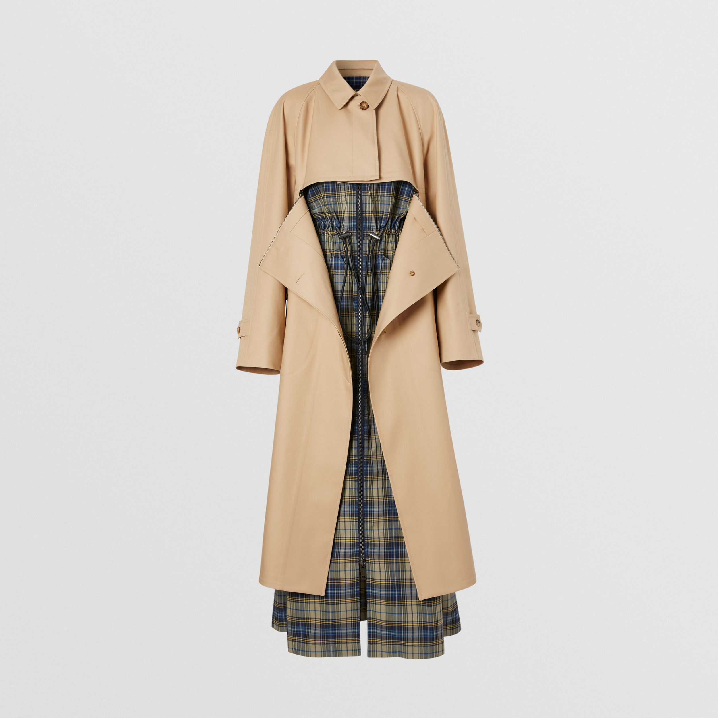Cotton Gabardine Reconstructed Car Coat in Soft Fawn - Women | Burberry United Kingdom - 4