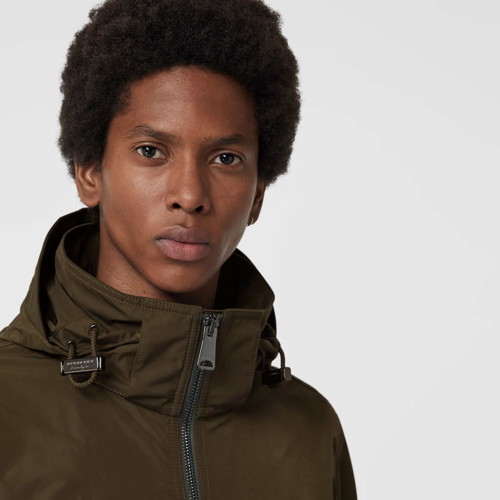 Packaway Hood Shape-memory Taffeta Jacket in Oregano - Men | Burberry - gallery image 1