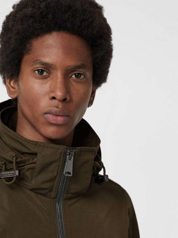 Packaway Hood Shape-memory Taffeta Jacket in Oregano - Men | Burberry - cell image 1