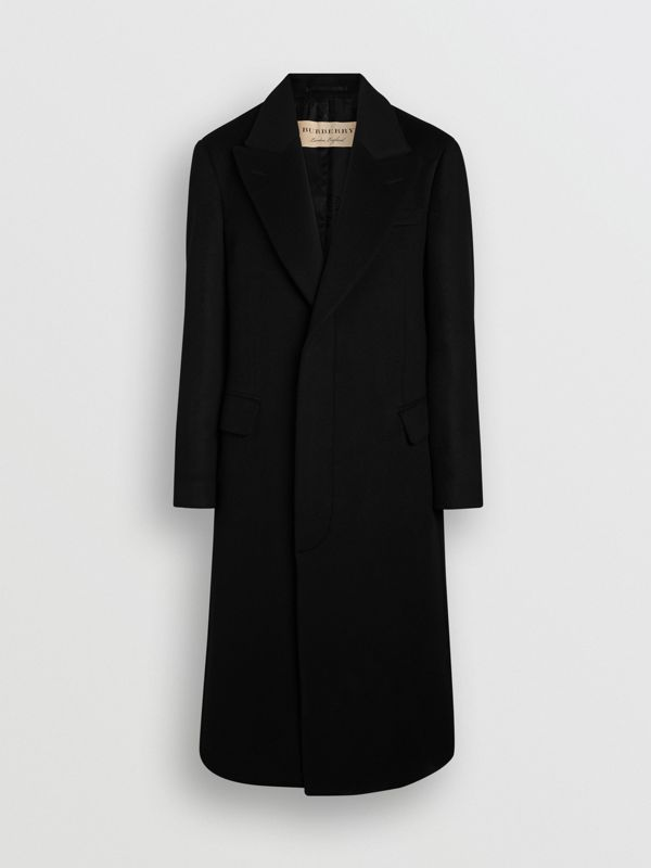 Double-faced Cashmere Tailored Coat in Black - Men | Burberry Australia - cell image 3