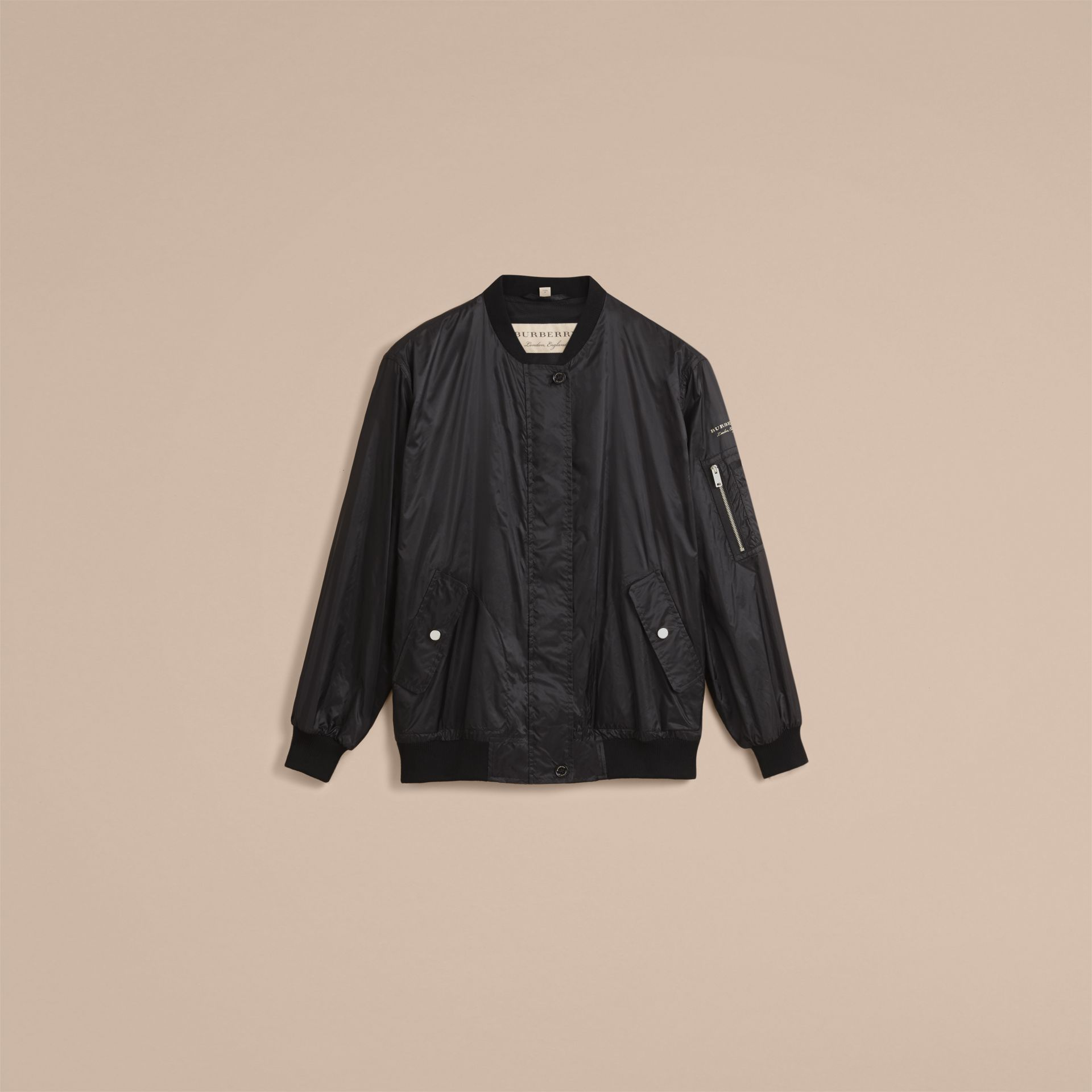Lightweight Bomber Jacket in Black - Women | Burberry Canada - gallery image 4