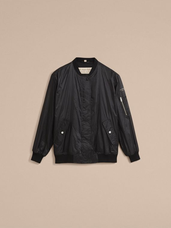 Lightweight Bomber Jacket in Black - Women | Burberry - cell image 3