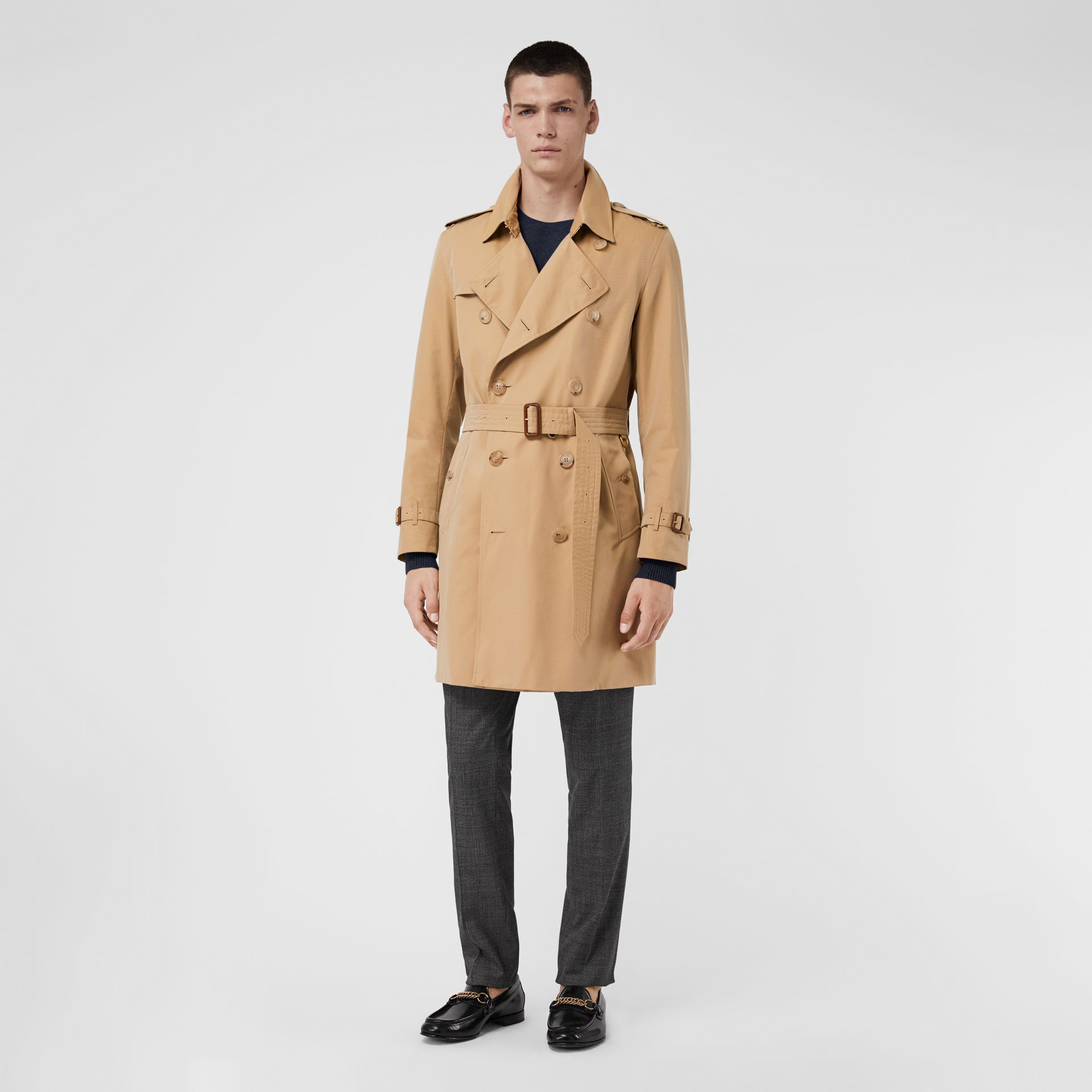 The Kensington Heritage Trench Coat in Honey - Men | Burberry Singapore - gallery image 6