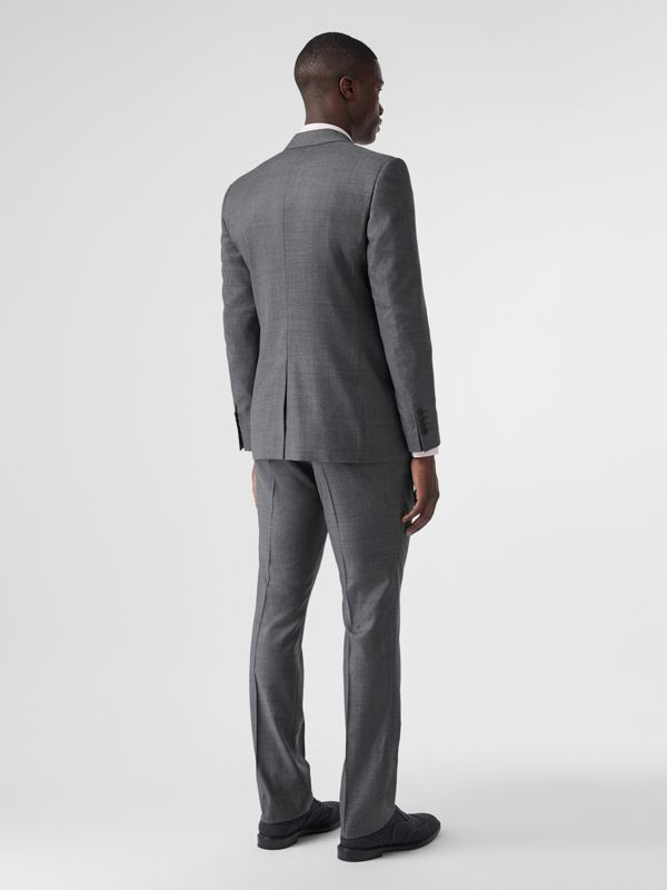 Classic Fit Sharkskin Wool Suit in Mid Grey Melange - Men | Burberry Hong Kong S.A.R - cell image 2