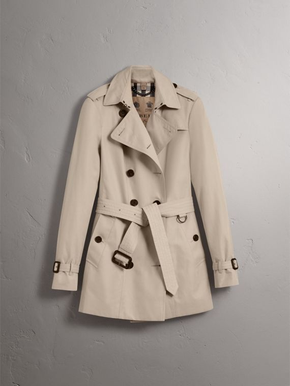 The Sandringham – Short Trench Coat in Stone - Women | Burberry - cell image 3