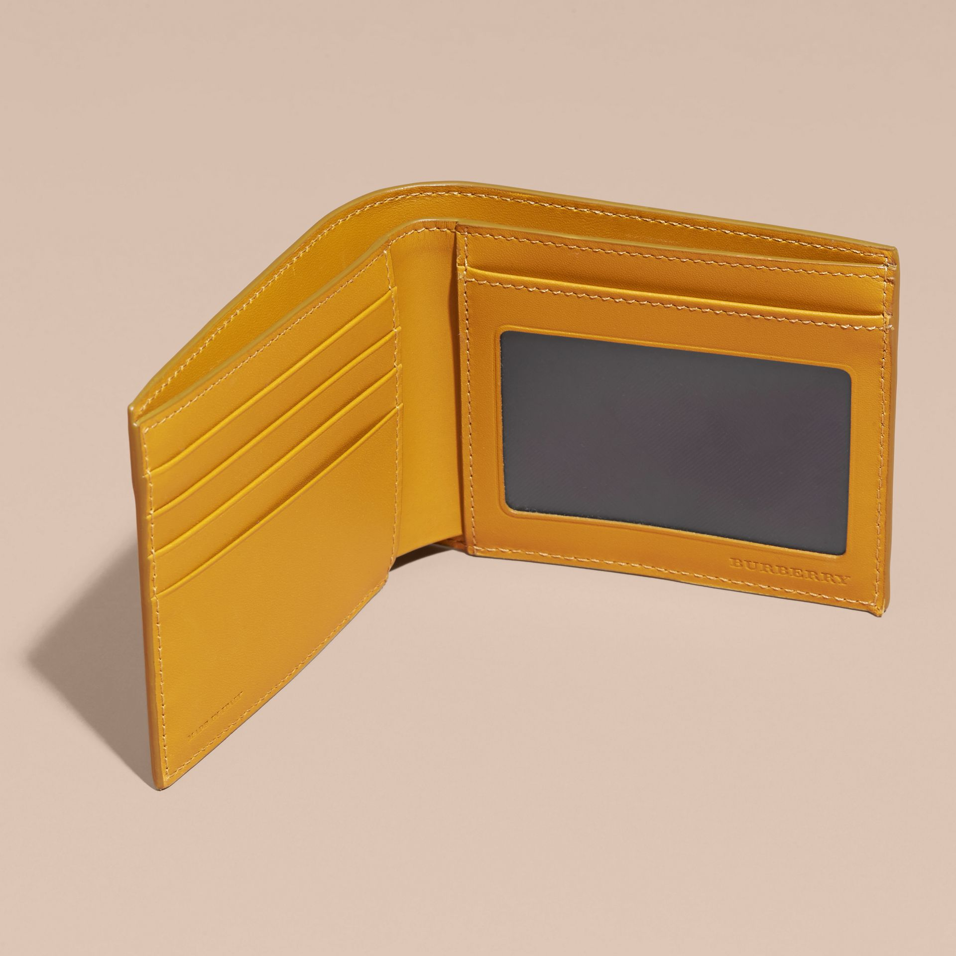 London Leather ID Wallet in Larch Yellow - gallery image 5