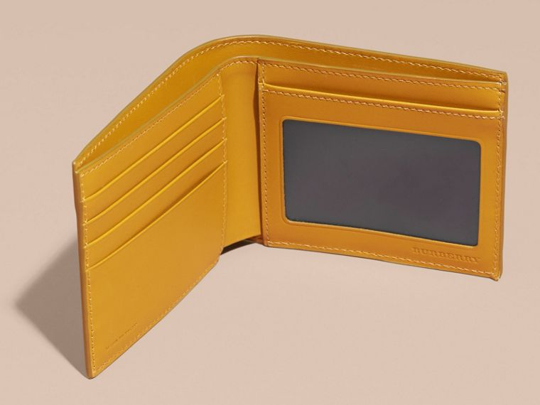 London Leather ID Wallet in Larch Yellow - cell image 4