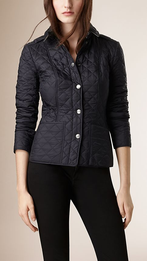 Ink Diamond Quilted Jacket Ink - Image 2