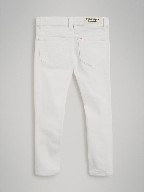 Skinny Fit Stretch Jeans in White | Burberry - cell image 3