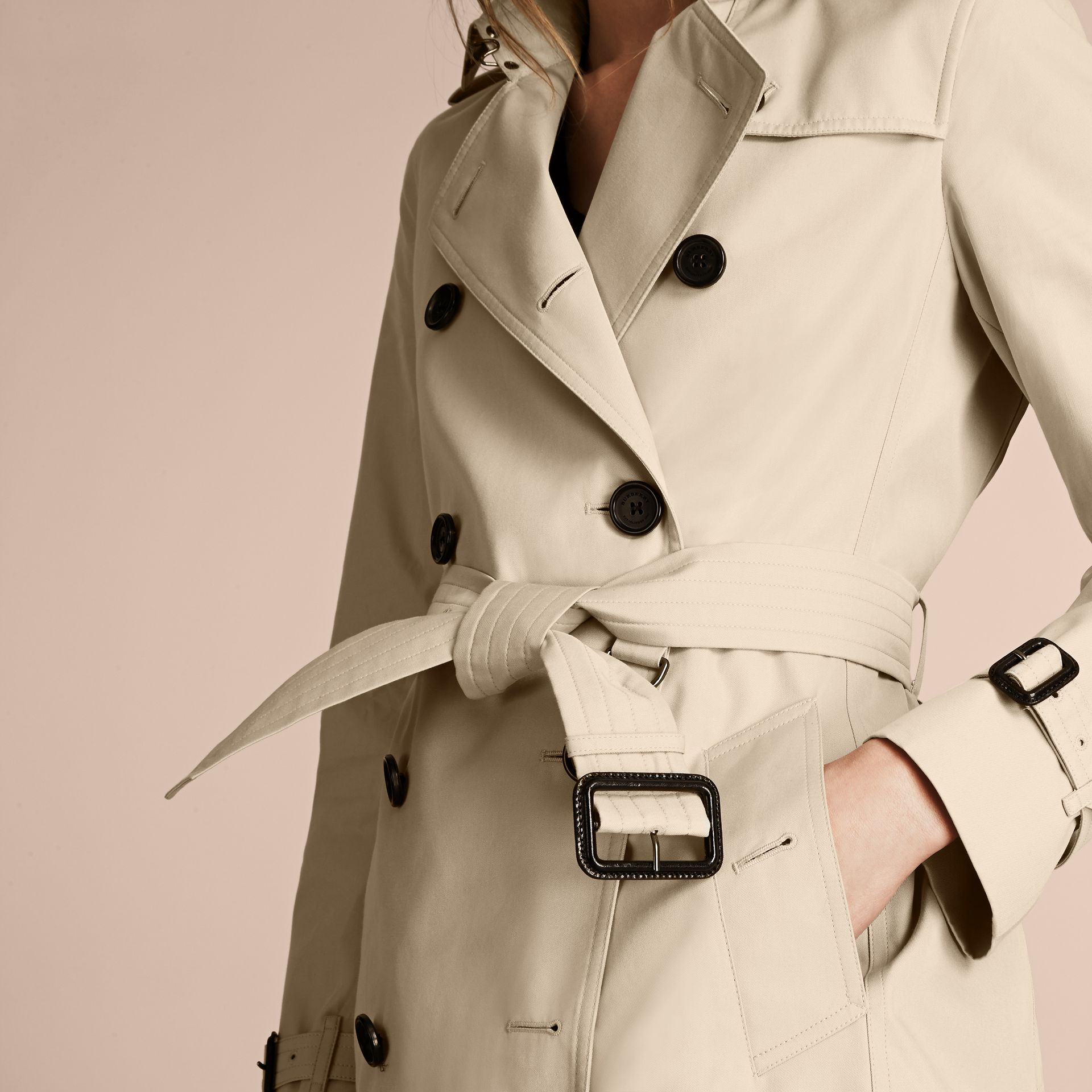 Stone The Kensington – Extra-long Heritage Trench Coat Stone - gallery image 7