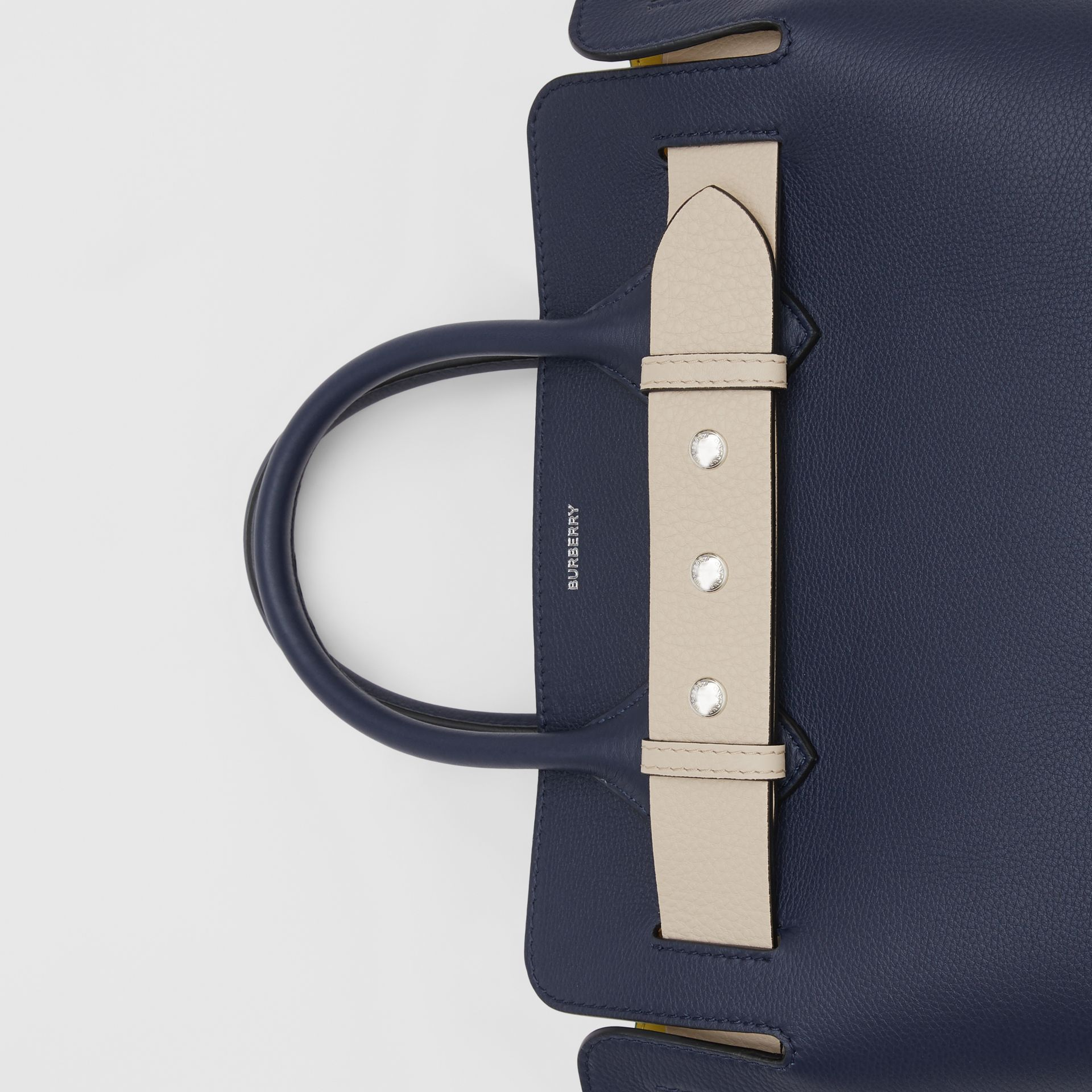 The Small Tri-tone Leather Triple Stud Belt Bag in Regency Blue - Women | Burberry - gallery image 1