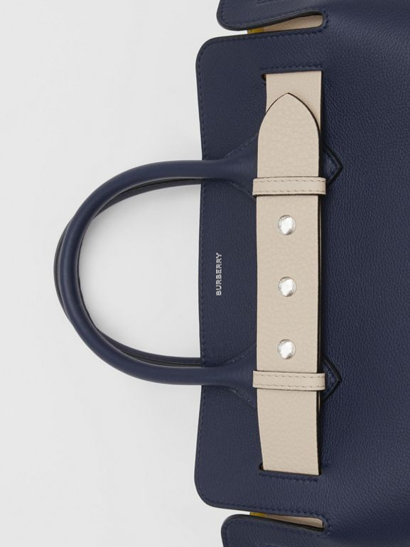 The Small Tri-tone Leather Triple Stud Belt Bag in Regency Blue - Women | Burberry - cell image 1