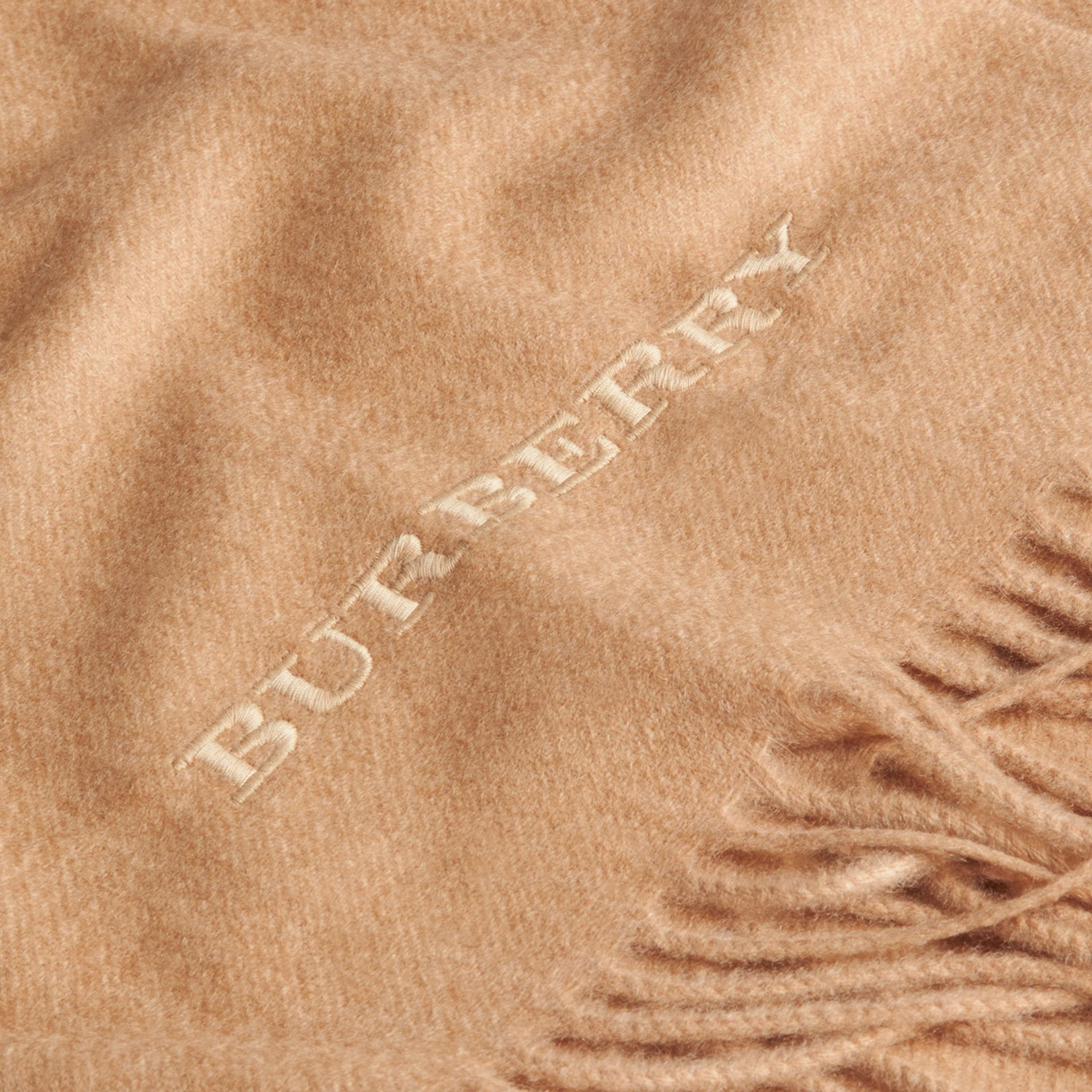 Cashmere Blanket in Camel | Burberry Singapore - gallery image 2