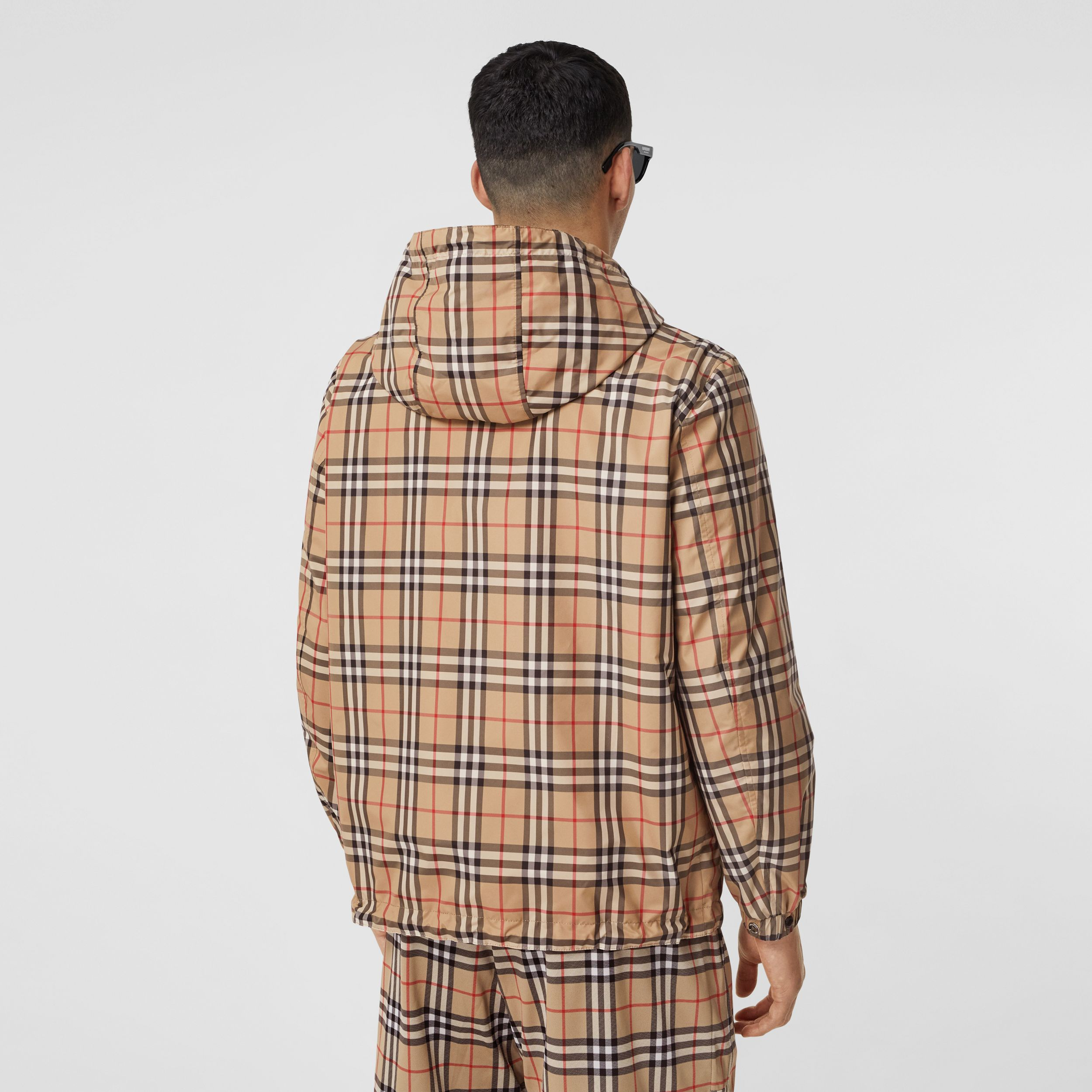 Reversible Vintage Check Recycled Polyester Jacket in Archive Beige - Men | Burberry - 2